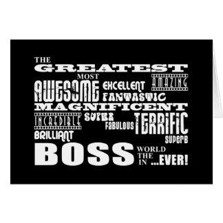 Coole moderne Spaß-Chefs: Bestster Chef Karten