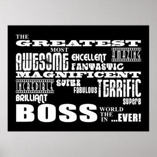 Coole moderne Spaß-Chefs: Bestster Chef Plakatdrucke