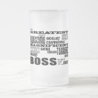 Coole moderne Spaß-Chefs Bestster Chef Tee Tassen