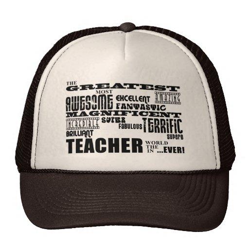 Coole moderne Spaß-Lehrer: Bestste Lehrer-Welt Netzmützen