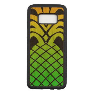 Coole moderner Entwurfs-Ananas auf schwarzem Carved Samsung Galaxy S8 Hülle