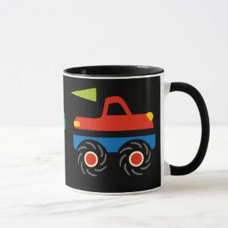 Coole Monster-LKW-blaues Rot-Grün-Geschenke für Tasse