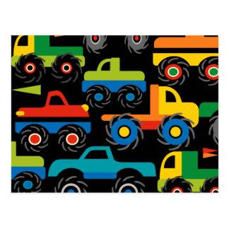 Coole Monster-LKW-Transport-Geschenke für Jungen Postkarte