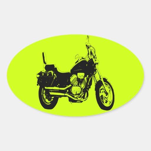 Coole Motorradfahrrad-Silhouette Aufkleber