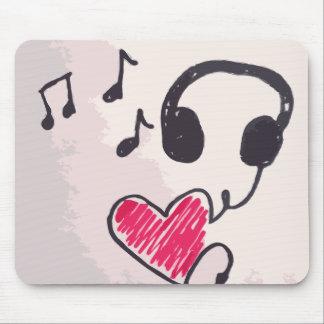 Coole Musik ist Liebe-Gekritzel Mousepad