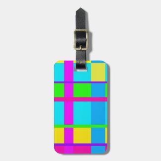 Coole Neonfarben - Frauenreise-Gepäckumbau Gepäckanhänger