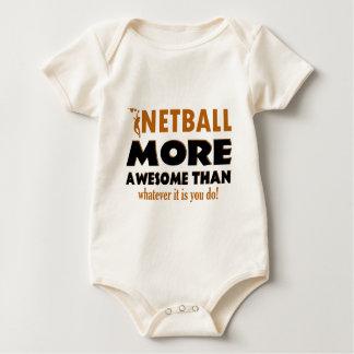 Coole Netballentwürfe Baby Strampler