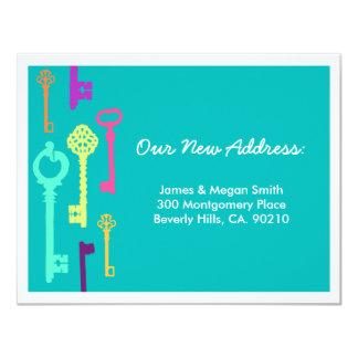 Coole neue Adressen-Mitteilung der Schlüssel-  10,8 X 14 Cm Einladungskarte