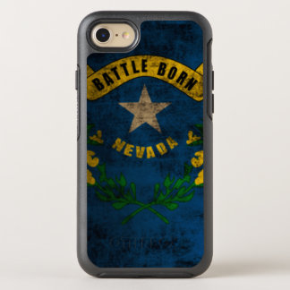 Coole Nevada-FlaggeVintager Grunge OtterBox Symmetry iPhone 8/7 Hülle