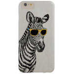 Coole niedliche lustige Zebraskizze mit trendy Barely There iPhone 6 Plus Hülle