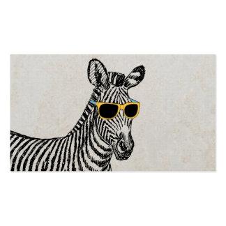 Coole niedliche lustige Zebraskizze mit trendy Visitenkartenvorlage