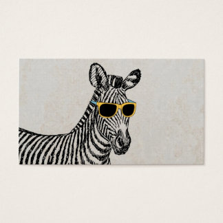 Coole niedliche lustige Zebraskizze mit trendy Visitenkarten