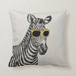 Coole niedliche lustige Zebraskizze mit trendy Zierkissen