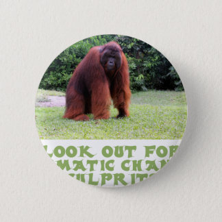 coole Orang-Utan Entwürfe Runder Button 5,1 Cm