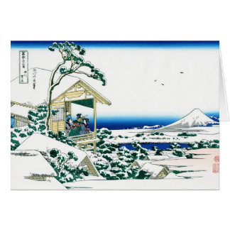 Coole orientalische Japaner Hokusai Fuji Karte