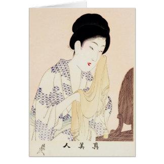 Coole orientalische japanische alte Druck Karte