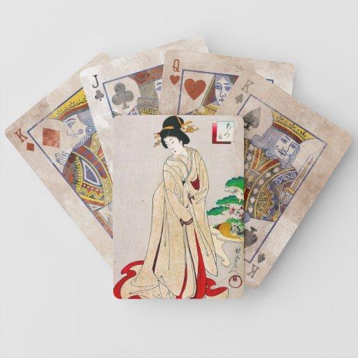 Coole orientalische japanische klassische Geishada Spielkarten