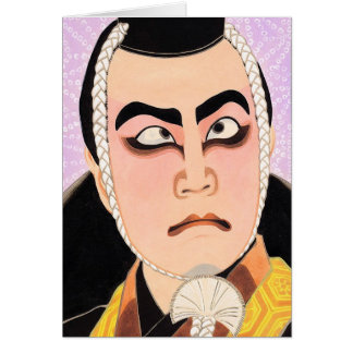Coole orientalische japanische klassische kabuki karte