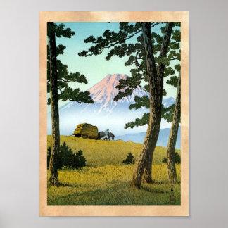 Coole orientalische japanische landsape Landschaft Poster