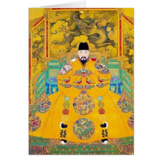 Coole orientalische klassische chinesische karte
