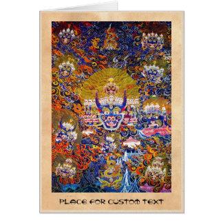 Coole orientalische tangka Yamantaka Karte