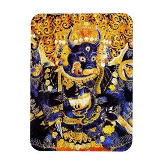 Coole orientalische tangka Yamantaka Todesgottätow Eckiger Magnet
