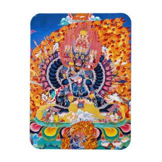 Coole orientalische tangka Yamantaka Todesgottätow Flexible Magnete