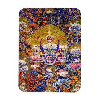 Coole orientalische tangka Yamantaka Todesgottätow Rechteckige Magnete