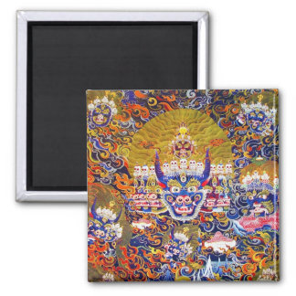 Coole orientalische tangka Yamantaka Todesgottätow Quadratischer Magnet