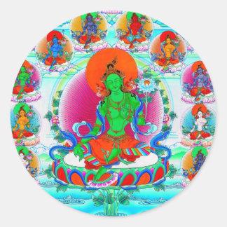 Coole orientalische tibetanische thangka runder sticker