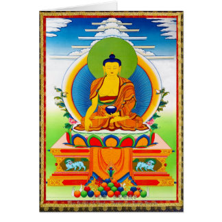 Coole orientalische tibetanische thangka karte