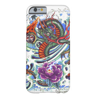 Coole orientalische Wasser-Drache-lila Barely There iPhone 6 Hülle