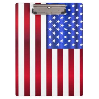 Coole patriotische Sterne u. Streifen Klemmbrett