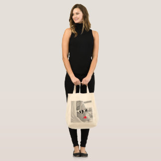 Coole Retro riesige Dame Face Tote For Beach Tragetasche