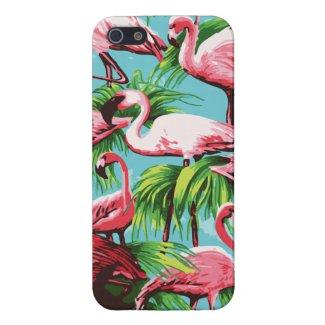 Coole Retro rosa Flamingos iPhone 5 Cover