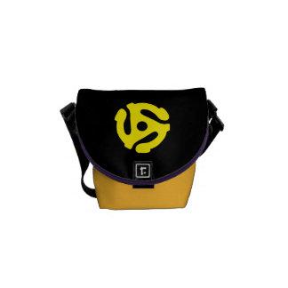 COOLE Retro Vintage Distanzscheibe DJ des Gelbs 45 Kurier Taschen