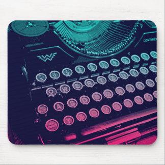 Coole Retro Vintage Schreibmaschinen-Pop-Kunst Mousepad