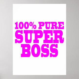 Coole rosa Geschenke für Chefs: 100% reiner Superc Plakat