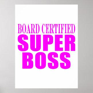 Coole rosa Geschenke für Chefs: Superchef Posterdruck