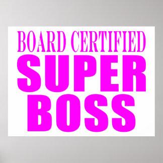 Coole rosa Geschenke für Chefs: Superchef Posterdrucke