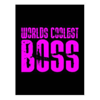 Coole rosa Geschenke für Chefs: Weltcoolster Chef Postkarte