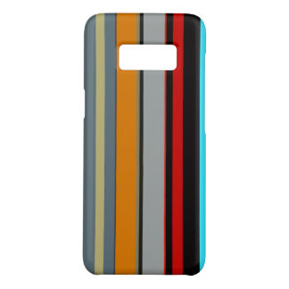 Coole rote gelbe blaue silberne Mehrfarbenstreifen Case-Mate Samsung Galaxy S8 Hülle