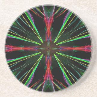 Coole rote grüne elektrische Energie-Neonexplosion Untersetzer