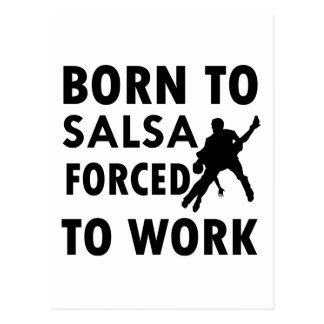 Coole Salsa-Entwürfe Postkarte