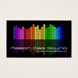 Coole schwarze Entzerrer DJ-Geschäfts-Karte Visitenkarte