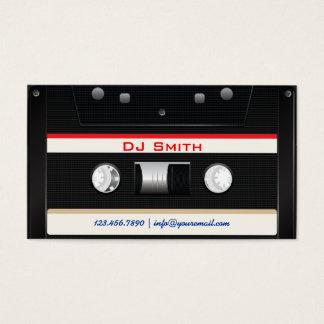 Coole schwarze Kassetten-Band DJ-Geschäfts-Karte Visitenkarte