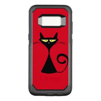 Coole schwarze Katze auf Samsungs-Galaxie s8 OtterBox Commuter Samsung Galaxy S8 Hülle
