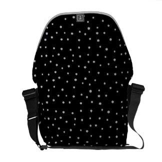 Coole schwarze Nachtstern-Druck-Bote-Taschen Kuriertasche