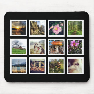 Coole Schwarzweiss-Instagram Foto-Collage Mousepads