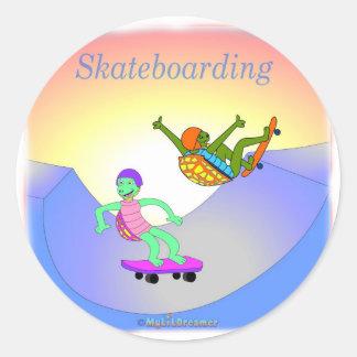 Coole skateboarding Geschenke für Kinder Runder Aufkleber